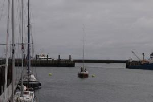 Oromocto bei der Rückkehr in den Hafen von Helgoland (Fotos: Hinnerk Weiler)