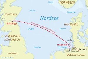 Zum 25. Mal geht es im kommenden Jahr auf der Abschlussregatta der Nordseewoche quer über die Doggerbank nach Edinburgh