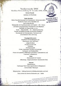 Bei der großen Abschluss Preisverleihung der Nordseewoche 2016 wollen wir Im Hamburger Veermaster auch kulinarisch mit Euch feiern.